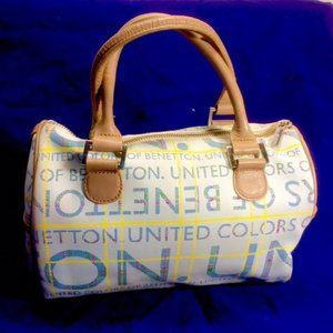 Vtg 90's Benetton Doctors Canvas Logo Speedy Bag